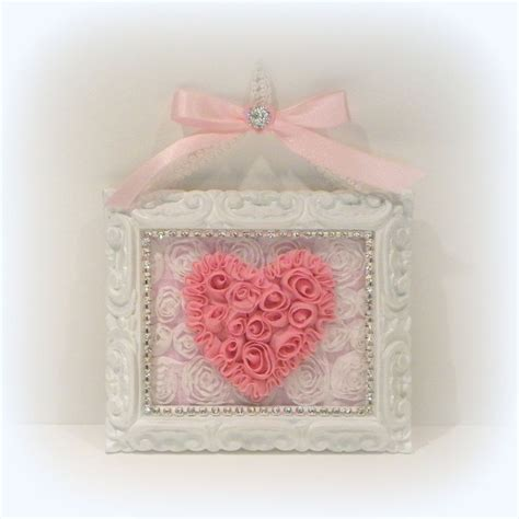 shabby chic wall hangings shabby chic decorating shabby chic wall decor shabby chic pink heart wall decor cottage