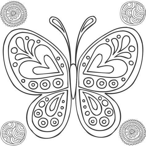 Mandalas Papillon #8 (mandalas)  Coloriages à Imprimer
