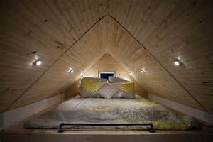 Tiny house lofts and bedding on