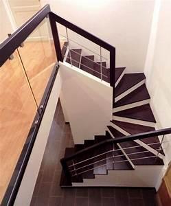 Escalier Colimaçon Beton : marches en bois sur escalier b ton garde corps bois inox et verre decoracion pinterest ~ Melissatoandfro.com Idées de Décoration