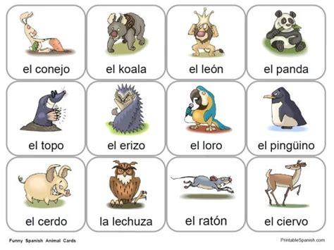 fun spanish animal cards