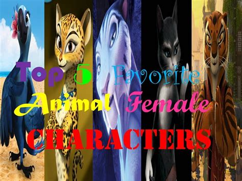 My Top Five Favorite Animal Female Characters Youtube