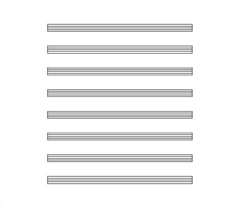 Sheet Music Template  9+ Free Word, Pdf Documents Download!  Free & Premium Templates