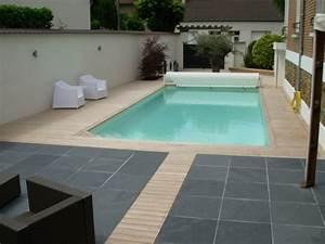 beau dalle beton autour piscine 2 terrasse en teck With dalle beton autour piscine