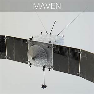 3d nasa spacecraft maven satellite
