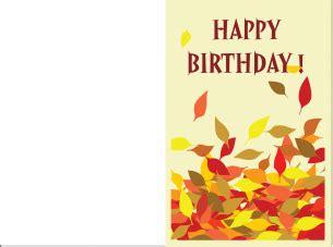 leaves birthday cards