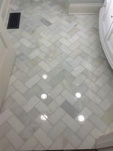 Herringbone marble bathroom floor home decor pinterest for Floor tile patterns for small bathroom