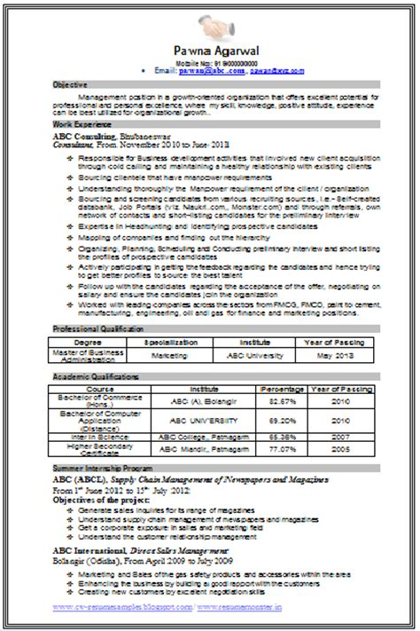 Sle Mba Resumes by Mba Marketing Resume Sle 28 Images Master Of Business Administration Resume Template 8 Mba