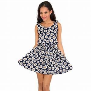 Daisy Print Sun Dress Poppy UK
