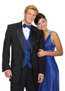 Black Tuxedo with Royal Blue Vest and Tie