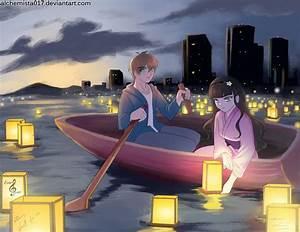 Japanese Lantern Floating Festival by tiXri on DeviantArt