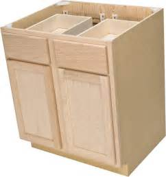 Unfinished Bathroom Cabinets Menards by Quality One 30 Quot X 34 1 2 Quot Unfinished Oak Base