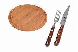Messer Und Gabel : gr we steak pizzabesteck messer und gabel schneidbrett aus bambus ~ Orissabook.com Haus und Dekorationen