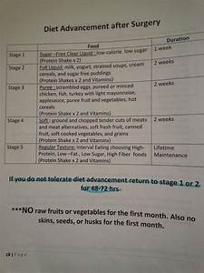 Gastric Sleeve Post Op Diet Page From My Manual  Always