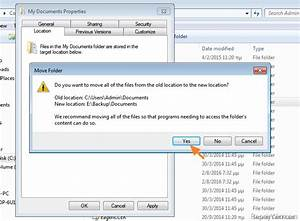 how to move user folders change default save location in With documents windows 7 change location