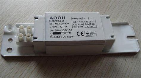 fluorescent lighting wiring ballast for fluorescent light