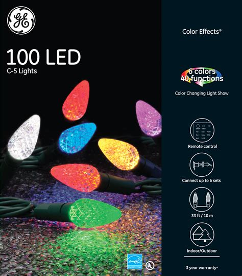 ge color effects 72425 ge color effects 174 led c 5 lights 100ct rgb ge