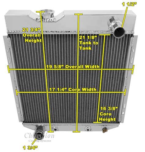 ford falcon mustang ranchero  aluminum radiator