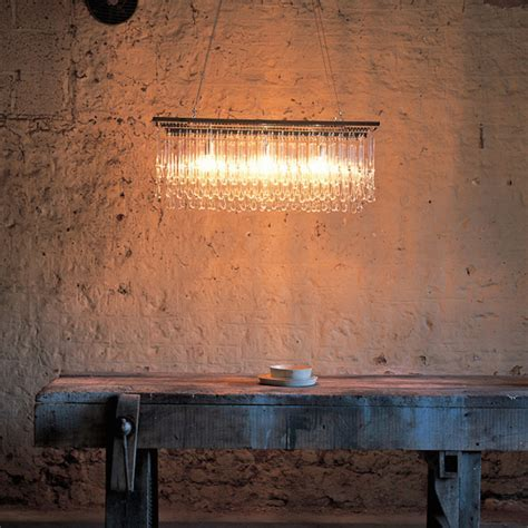 LIGHT DRIZZLE CHANDELIER RECTANGULAR 39.25