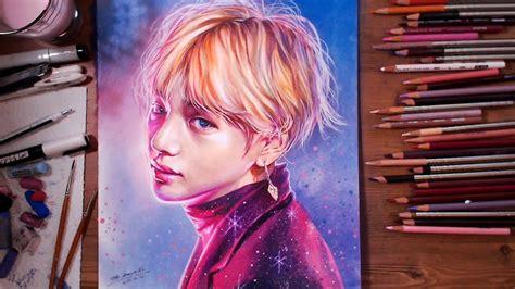 bts bangtan boys  kim tae hyung speed drawing