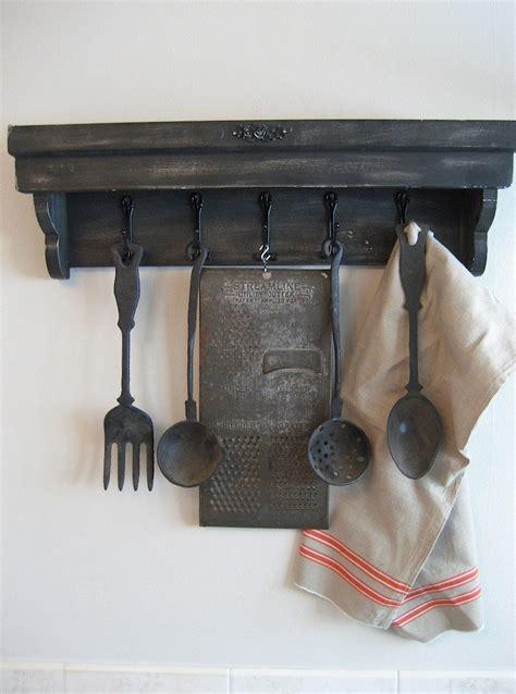 Reserved Vintage Kitchen Utensils And Shelf