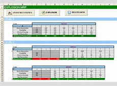 Excel MRP Material Requeriment Plan MRP spreadsheet