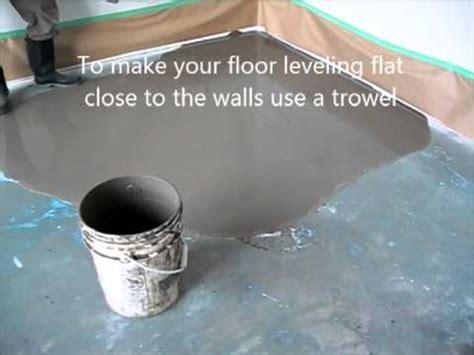 leveling floor compound   prepare  put