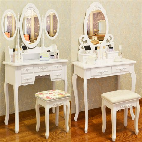 Vanity Table With Mirror And Drawers by White Dressing Table Vanity Makeup Desk With 4 Or 7
