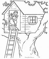 Coloring Pages Printable Farm Chores Tree Fortune Teller Sheets Houses Colour Adult Fun Building Books Drawing Treehouse Getcolorings Printing Colorings sketch template