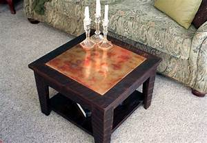small copper coffee table with shelf 24 x 24 square With 24 inch square coffee table