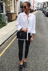 Tenue Femme Classe : mode femme printemps tenue classe pantalon slim noir ~ Farleysfitness.com Idées de Décoration