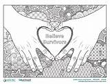Coloring Believe Survivors Colorear Para Saam Sexual Month Awareness Assault Pdf Las Nsvrc Violence Víctimas Páginas National Strong Graphic sketch template