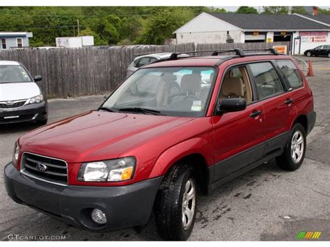 subaru forester red 2004 cayenne red pearl subaru forester 2 5 x 9497552