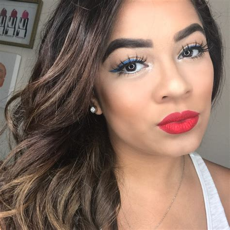 holiday makeup easy red white blue jasmine maria