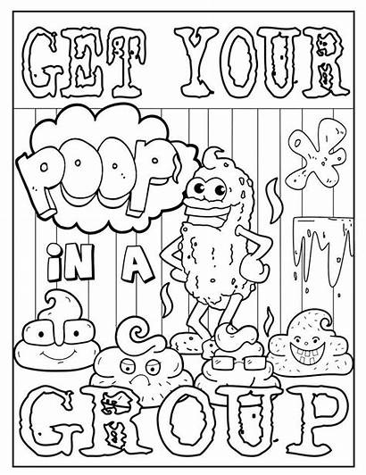 Coloring Cuss Words Adult Adults Swear Ck