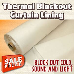 Thermal Drapery Lining Fabric - blackout thermal curtain lining linings fabric ebay