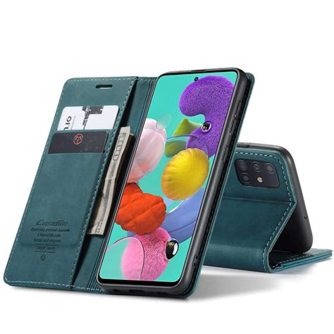 The company started with some of its popular galaxy devices, but the. CASEME Samsung Galaxy A51 Retro Wallet Case - Blue ...