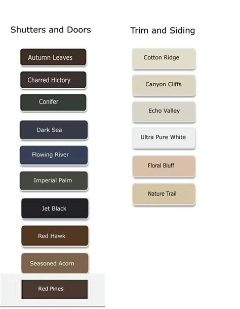behr paint color chart color palette paint
