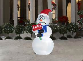 6 shivering snowman airblown 174 inflatable at menards 174
