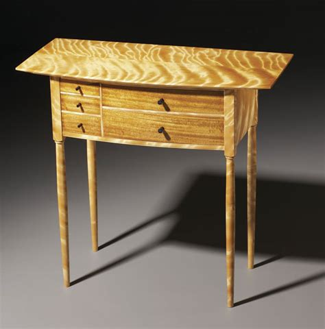 flame birch table finewoodworking