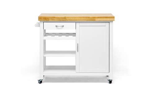 kitchen cart dining table baxton studio denver white modern kitchen cart with