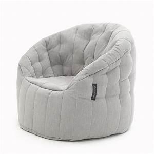 Linen, Bean, Bag, Furniture, Butterfly, Sofa, In, Premium, Keystone, Grey, Fabric