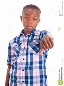 African American Boy Making Thumbs Down