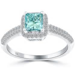princess cut engagement rings blue princess cut engagement ring diamantbilds