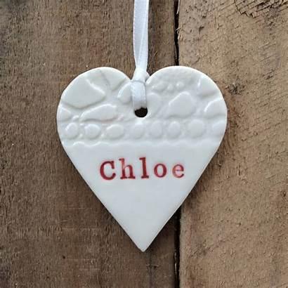 Heart Handmade Ceramic Decoration Ceramics Notonthehighstreet Sarah