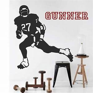football player wall sticker trendy wall designs With football wall decals