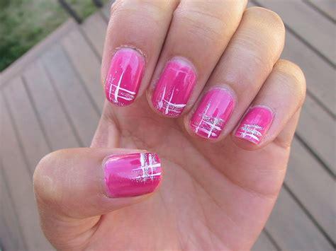 Neon Pink Nail Polish Designs