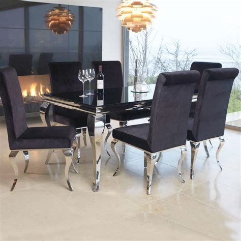Louis Contemporary Black or White Glass & Chrome 2m 7