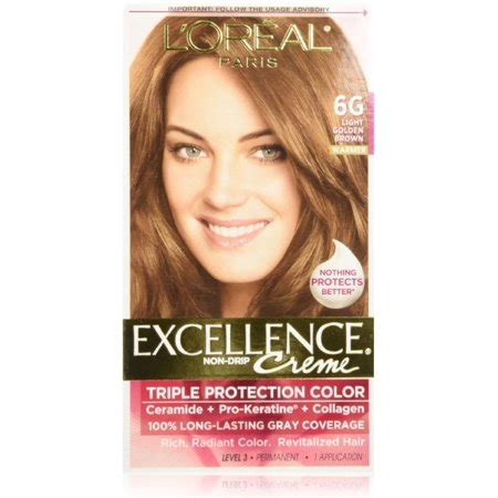 6g hair color l oreal excellence creme protection hair