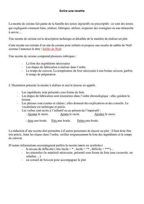 exercice recette de cuisine la recette leçon ce2 cm1 lecture pass education